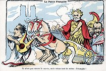The French homeland. Satirical cartoon about Emile Loubet (1838-1929), French statesman. Humorous postcard. © Roger-Viollet