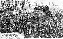 Funeral of Giuseppe Verdi (1813-1901), Italian composer. Milan (Italy), on January 30, 1901. Composition by Tavio (February 27, 1901). © Roger-Viollet