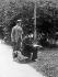 Giuseppe Verdi (1813-1901), Italian composer, strolling with Arrigo Boito (1842-1918), Italian composer, novelist and poet, who wrote some of his opera librettos. © Albert Harlingue / Roger-Viollet