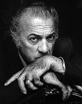 October 31, 1993 (25 years ago) : Death of Federico Fellini (1920-1993), Italian director and screenwriter © Fondation Horst Tappe / KEYSTONE Suisse / Roger-Viollet