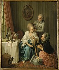 """Sigmund Freudeberg (1745-1801). """"La Marchande de rubans"""". Huile sur bois. Paris, musée Cognacq-Jay.    © Musée Cognacq-Jay / Roger-Viollet"""