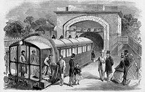 One of first subway lines of London, of the Arsenal to Crystal Palace. Engraving (1864). © Roger-Viollet
