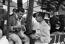 Jean-Louis Trintignant (born in 1930), French actor and director, with his uncle Maurice Trintignant (known as Petoulet, 1917-2005), French racing driver. Monaco (Principality of Monaco), 1962. © Roger-Viollet