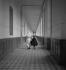 Hospital corridor. © Gaston Paris / Roger-Viollet