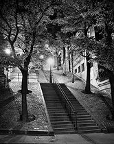 Stairs of rue Chappe at night. Montmartre. Paris (XVIIIth arrondissement), 1948. Photograph by René Giton (known as René-Jacques, 1908-2003). Bibliothèque historique de la Ville de Paris. © René-Jacques/BHVP/Roger-Viollet