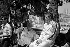 Stirling Moss et Jim Clark, pilotes de course anglais. Monaco. © Roger-Viollet