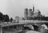 La cathédrale Notre-Dame vue de l'ancien pont de la Tournelle avec l'Hôtel-Dieu en démolition. Paris (IVème arr.), 1878-1880. © Roger-Viollet