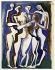 """Ossip Zadkine (1890-1967). """"Les belles"""". Gouache sur papier vélin, 1964. Paris, musée Zadkine.  © Musée Zadkine/Roger-Viollet"""