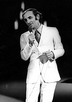 Charles Aznavour (1924-2018), Armenian-born French singer-songwriter and actor, 1970. © Ullstein Bild / Roger-Viollet