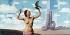 """""""Le Domaine enchanté"""" (1953). Fresque en huit panneaux pour la salle Magritte du Casino de Knokke (Belgique). Huile préparatoire pour le 2ème panneau par René Magritte (1898-1967). © Roger-Viollet"""