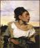Eugène Delacroix (1798-1863). Young woman sitting in a cemetery. Oil on canvas, 1824. Paris, Louvre museum. © Roger-Viollet