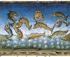 """""""Les poissons nageront au-dessus de la mer"""", 1476. Enluminure représentant une scène de la fin du monde extraite du manuscrit de Cristoforo de Predis (1440-1486). Turin (Italie), bibliothèque royale. © Iberfoto / Roger-Viollet"""