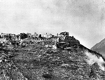 World War II. The Monte Cassino (Italy) after the Allies' bombing, February 1944. © Roger-Viollet