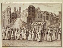 """Michel. """"Procession de la châsse de Sainte Geneviève passant devant l'Hôtel-Dieu (1679)"""". Gravure. Paris, musée Carnavalet. © Musée Carnavalet / Roger-Viollet"""