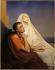 """Ary Scheffer (1795-1858). """"Saint Augustin et Sainte Monique"""", réplique de la version de 1845. Huile sur toile. Paris, musée de la Vie romantique.  © Musée de la Vie Romantique/Roger-Viollet"""