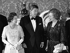 La reine Elisabeth II, Ronald Reagan et Margaret Thatcher, lors d'un banquet après le sommet économique de Londres (Angleterre), palais de Buckingham, 9 juin 1984. © PA Archive / Roger-Viollet