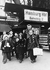 Blocus de Berlin (1848-1849). Enfants envoyés à Hambourg à leur arrivée à la gare, novembre 1948. © Ullstein Bild / Roger-Viollet