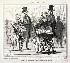 """Honoré Daumier (1808-1879). """"L'Exposition Universelle, number 16 : Effets du tourniquet sur les jupons en crinoline"""". Engraving. Paris, musée Carnavalet.    © Musée Carnavalet / Roger-Viollet"""