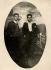 Missak Manouchian (1906-1944), Armenian poet and resistance fighter, with his brother, Karapet Manouchian, aboard a boat (recto). © Archives Manouchian / Roger-Viollet