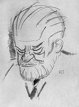 Hervé Baille (1896-1974). Caricature of Sigmund Freud (1856-1939), Austrian doctor, founder of psychoanalysis. © Roger-Viollet
