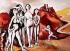 "Renato Guttuso (1911-1987). ""Massacre de Corée I"", vers 1953. Rome (Italie), galerie d'art moderne. © Alinari/Roger-Viollet"