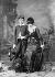 Sarah Bernhardt (1844-1923), French stage actress, with her son, Maurice. Paris, Bibliothèque de l'Arsenal.    © Roger-Viollet