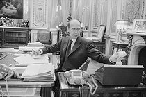 Valéry Giscard d'Estaing (born in 1926), President of the French Republic, at the Elysee Palace. Paris, on October 23, 1974. © Jean-Régis Roustan / Roger-Viollet