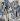 """Wolf Vostell (1932-1998). """"Les demoiselles d'Avignon"""". Acrylique sur toile, fusain, crayon, béton, 1983. Paris, musée d'Art moderne.  © Musée d'Art Moderne/Roger-Viollet"""