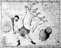 "Bouvier, the Great She-bear, Greyhounds and Bérénice's head of hair, constellations. Carvings of l ' John Flamsteed's ( 1646-1719 ) "" atlas "". © Roger-Viollet"