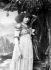 """Sarah Bernhardt (1844-1923), French stage actress, performing """"Izeÿl"""" by Silvestre and Morand. Paris, Théâtre de la Renaissance, 1894. Photograph by Nadar. © Collection Roger-Viollet/Roger-Viollet"""