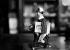 Jouet mécanique représentant un jockey avec la Joconde sous le bras. Allusion au vol du tableau du musée du Louvre en 1912, retrouvé à Florence en 1913. © Albert Harlingue/Roger-Viollet