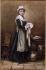 """Anonyme, """"Sarah Bernhardt dans le rôle de Mariette dans François le Champi"""". Dessin. Paris, musée de la Vie romantique. © Musée de la Vie Romantique / Roger-Viollet"""