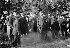 Theodore Roosevelt (1868-1919), président des Etats-Unis, en voyage en Europe. Versailles (Yvelines), 1910. © Maurice-Louis Branger / Roger-Viollet