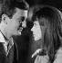 """""""Ce soir ou jamais"""", film by Michel Deville. Claude Rich and Anna Karina. France, 1961. © Alain Adler / Roger-Viollet"""