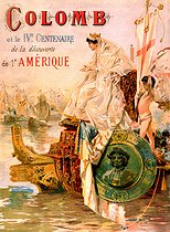 Poster commemorating the Discovery of America. 1892. © Roger-Viollet