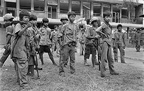 Cambodian War. Training of young children supposed to join the troops of Lon Nol's government. Cambodia, February 1974. © Françoise Demulder / Roger-Viollet