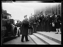 World War I. Signing of the Treaty of Versailles. The arrival of Georges Clemenceau (1841-1929), French Prime Minister. Versailles (France), on June 28, 1919. © Excelsior - L'Equipe / Roger-Viollet
