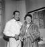 Edith Piaf (1915-1963) et Henri Salvador (1917-2008), chanteurs français. Paris, Alhambra, novembre 1958. © Studio Lipnitzki/Roger-Viollet