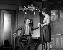 """""""L'Etiquette"""", pièce de Françoise Dorin. Jean Piat et Micheline Luccioni. Paris, théâtre des Variétés. Janvier 1983. © Angelo Melilli / Roger-Viollet"""