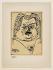 Pablo Picasso (1881-1973). Portrait lithographié de Balzac sur vélin d'Arches, 1957. Lithographie. Paris, Maison de Balzac.  © Maison de Balzac / Roger-Viollet