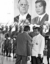 Norodom Sihanouk, King of Cambodia (1922-2012), during a visit of President Charles de Gaulle in Cambodia. Phnom-Penh, August 1966. © Roger-Viollet