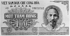 Billet vietnamien de 100 dongs à l'effigie du président de la République Ho Chi Minh (1890-1969), imprimé en Tchécoslovaquie et émis en 1951. Collection Thomas. © Roger-Viollet