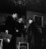 "French actors Louis Jouvet and Marguerite Moreno during a rehearsal of ""La Folle de Chaillot"", by Jean Giraudoux, December 1945.     © Studio Lipnitzki / Roger-Viollet"