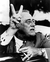 Franklin D. Roosevelt Franklin D. Roosevelt, President of the United States between 1933 and 1945