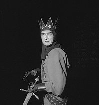 """Macbeth"" by Shakespeare. Jean Vilar. Paris, Théâtre National Populaire, January 1955. © Studio Lipnitzki/Roger-Viollet"