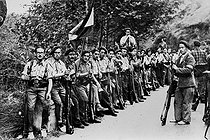 Spanish Civil War (1936-1939). Carlist voluntary soldiers rallied in Franco. © Roger-Viollet