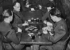 Guerre 1939-1945. Mess d'officiers sur la ligne Maginot. France. Mars 1940.      © Albert Harlingue / Roger-Viollet