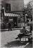 Through the streets of Paris. Montmartre. Place du Calvaire, at the corner of the place du Tertre. Paris (XVIIIth arrondissement), 1956. Photograph by Jean Marquis (1926-2019). Bibliothèque historique de la Ville de Paris. © Jean Marquis / BHVP / Roger-Viollet