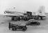 """Blocus de Berlin (1948-1949). Déchargement d'une cargaison de ravitaillement d'un """"Hasting"""". 11 novembre 1948. © Ullstein Bild / Roger-Viollet"""