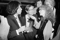 Party at the Palace. Kenzo Takada (born in 1939), Japanese fashion designer, and SonIa Rykiel (1930-2016), French fashion designer. Paris, March 1978. © Jack Nisberg/Roger-Viollet